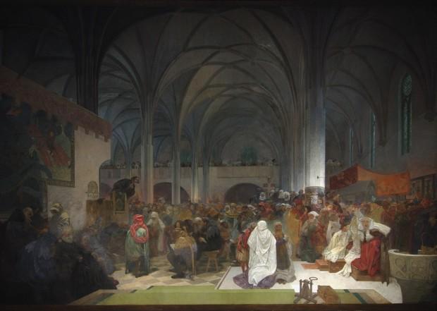 The Slav Epic Cycle No 8 Master Jan Hus Preaching At
